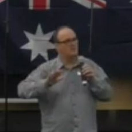 Rodney Olsen speaking about Compassion Australia at Eternal Life Ministries